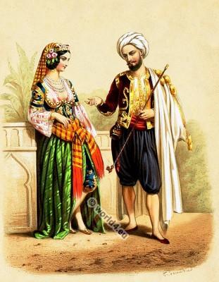 Costumes Mauresques. Alexandre Lacauchie. Les nations. Album des Costumes De Tous les Pays.