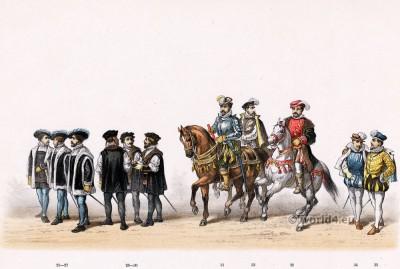 Reinier van Wijhe, viscount and judge in Nijmegen. Renaissance 16th century military costumes.