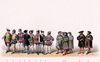 Willem van Gendt, Lord of Loenen. Emperor Charles V. Renaissance fashion period. 16th century military uniforms.
