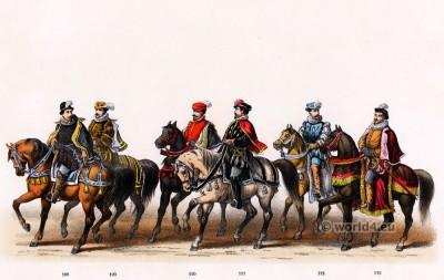 Baron of the Holy Roman Empire. Emperor Charles V. Renaissance fashion period. 16th century military uniforms.