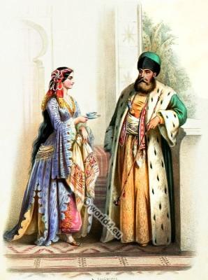 Costumes Armeniens. Alexandre Lacauchie. Les nations. Album des Costumes De Tous les Pays.