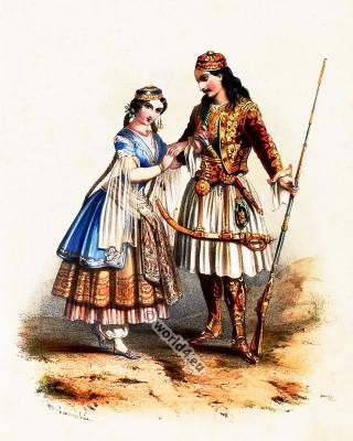 Costumes Grecs. Alexandre Lacauchie. Les nations. Album des Costumes De Tous les Pays.