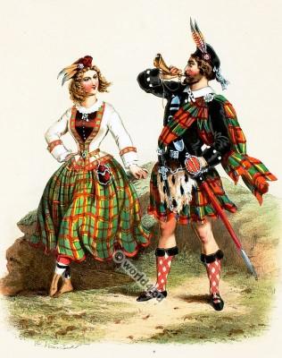 Costumes Ecossais. Alexandre Lacauchie. Les nations. Album des Costumes De Tous les Pays.