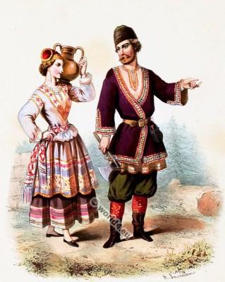 Costumes Russes. Alexandre Lacauchie. Les nations. Album des Costumes De Tous les Pays.