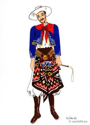 Gaucho costume, Argentina. Traditional chiripá.