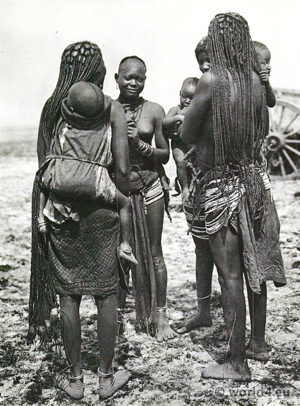 African Tribe Ovambo Women Ondonga