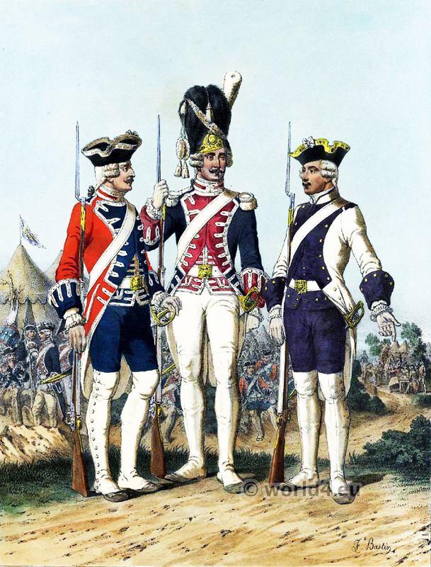 French Gunner uniform of the Royal Guard.