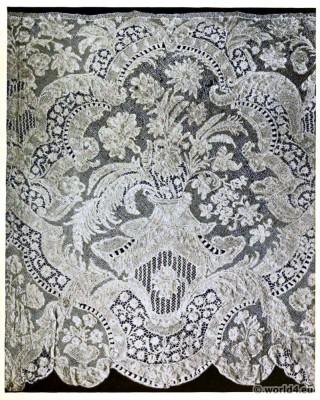 Italian Bobbin Lace flounce Piece. Needlepoint 16th century