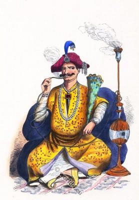 Raja dress. Maharajah costume. Traditional India clothing. Asian राज dress