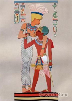 Ancient Egypt Pharaoh costume. Egyptian Goddess Anouke & Ramses II