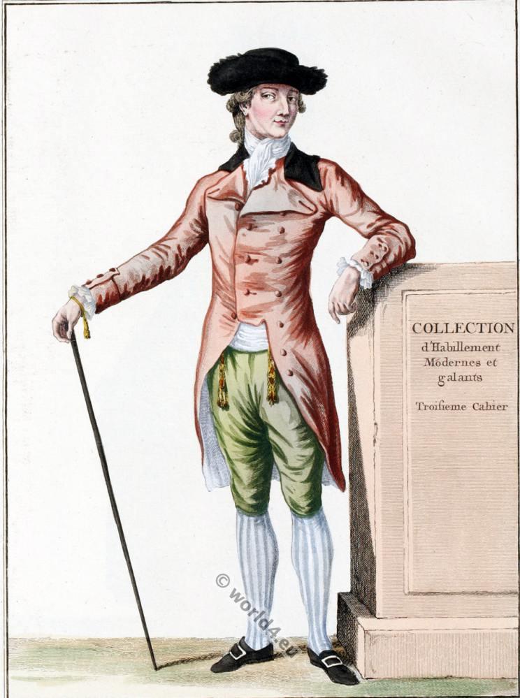 Frac 224 L Anglaise Avec Bavaroises 1780 Costume History
