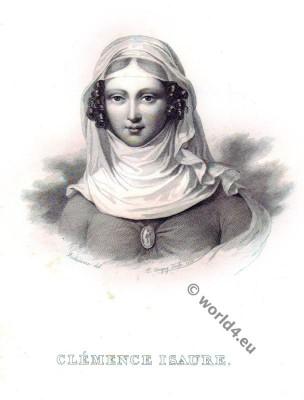 .Clémence Isaure. Medieval Troubadours. French Renaissance costume