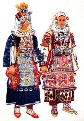 Macedonian national costumes from Skopska crna gora.