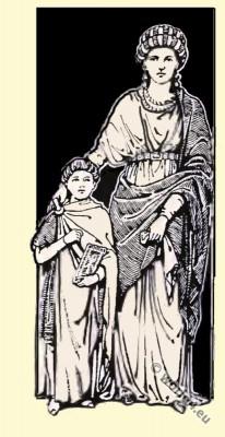 Byzantine Costume History. Tunica, Paludamentum.