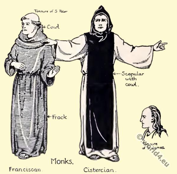 Monachism Monastic Costumes History Costume History