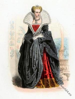 Marguerite de France. France baroque costumes.