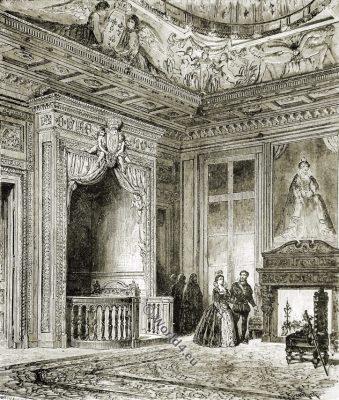Chamber, Renaissance, France, Interieur
