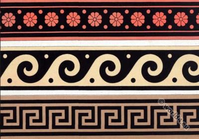 Ancient Greece art. Ceramics. Ornaments on vases.