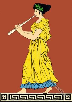 Antique Greek Art. Decorative Figure on an amphora of Naples museum.