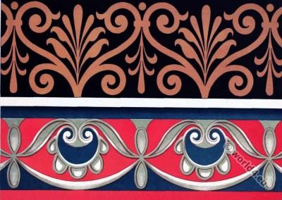 Antique Greco-Roman art. Frisco, mural painting. Idem painted sculpture.