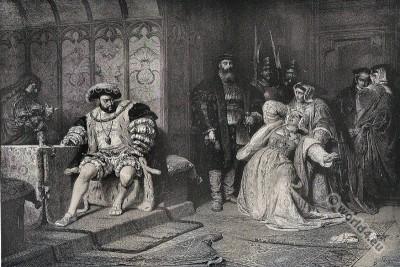 Anne Boleyn. Henry the Eighth. Tudor King and Queen of England.