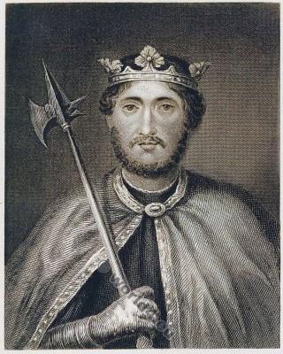 King Richard I the Lionheart. Cœur de Lion. England medieval nobility costume