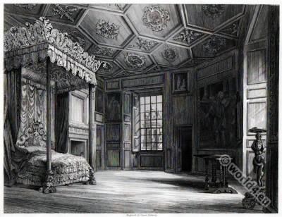 Mary Stuart . Holyrood House. Tudor room