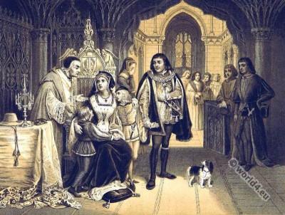 England King King Richard III. Plantagenets. 15th century clothing