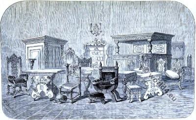 England, Furniture, 16th century, Tudor