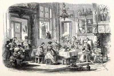Margaret of Austria. Marguerite d'Autriche. Renaissance Court etiquette