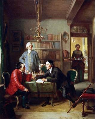 Gotthold Ephraim Lessing. Lavater. Moses Mendelssohn. Moritz Daniel Oppenheim. German Enlightenment.