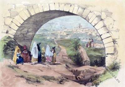 Jewish graves. Cemetery Algier, Algeria 19th century.