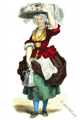 Fashion History. Paris Merchant costume