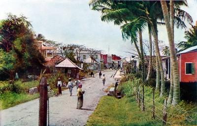 Rio Piedras, Puerto Rico national costumes. Creoles at Caribic islands. American colonialism.