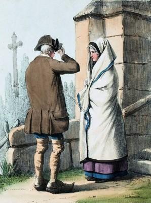 Old,france,costumes,Bagnères-de-Luchon,Luchon,Haute-Garonne,Costumes des Pyrénnées,folk,dresses,