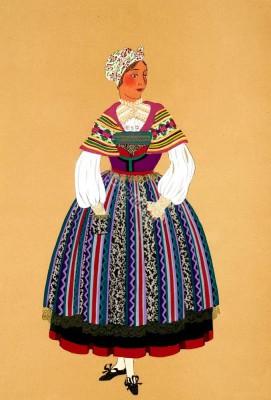 Femme de Saverne,Alsace,Zàwere,Paysanne,Peasant,Traditional, Traditionnel,Costumes,france,Département Bas-Rhin,