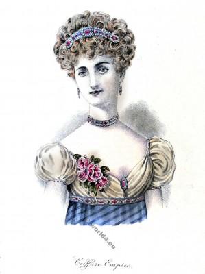 Coiffure Empire. 19ème siècle. Fashion Empire