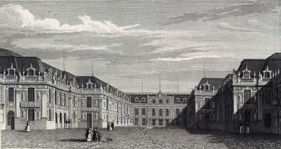 Palais de Versailles. Cour Royal. Louis XIV. Louis XV. Louis XVI.