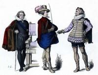 Uniformes militaires baroque. Costumes France 17ème siècle. Louis XIII modes.