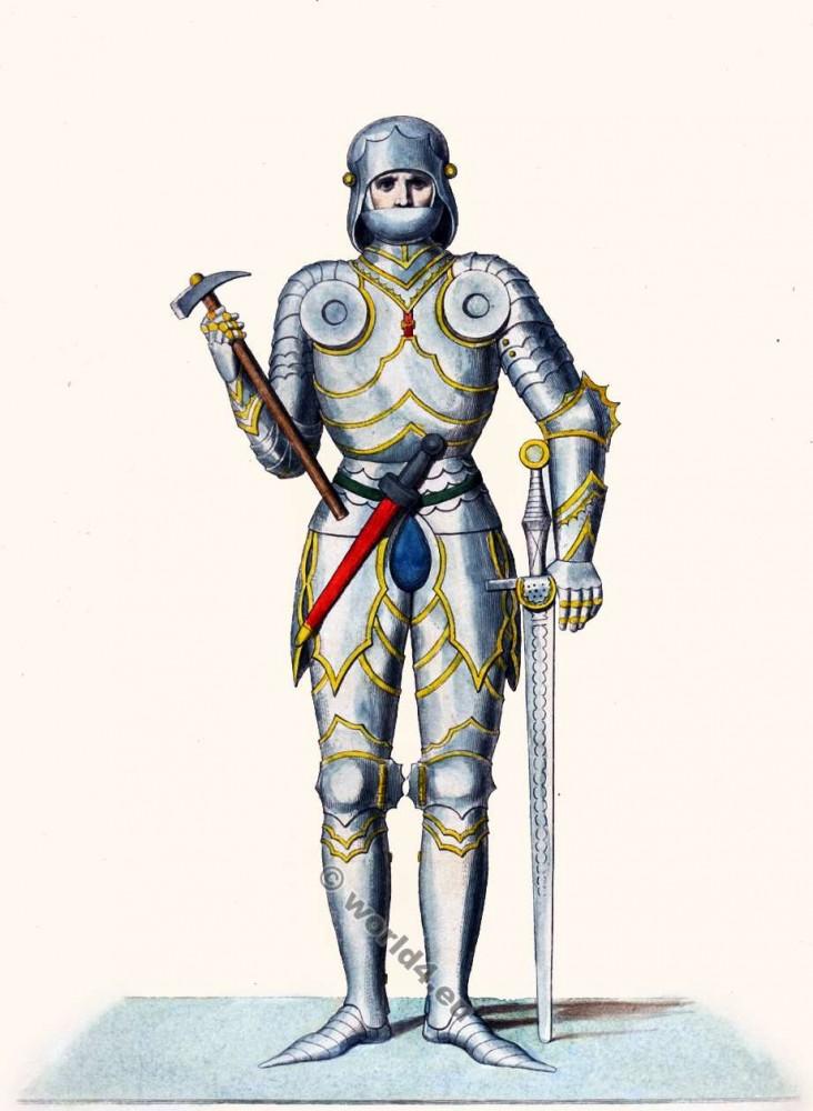 Guillaume de Bibra. Wilhelm von Bibra. Chevaliers en armure. 15ème siècle. la mode Renaissance.