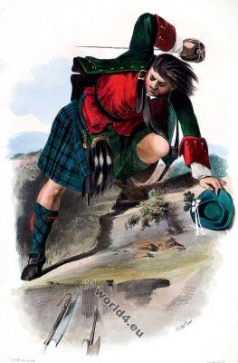 Clann Choinnich - The Mackenzies. Clan. Tartan. Scotland national costume. Clans of the Scottish Highlands.