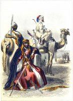 Abyssin et Égyptiens. Costumes traditionnels. Vêtements bédouine.