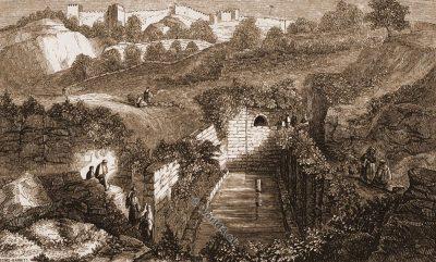 Siloam Pool. Israel. Jerusalem. Sacred Christian site. Gihon Spring. Solomon