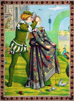 Eternal Love. Valentines. Walter Crane. Kate Greenaway. Costumes.