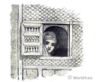 Ottoman empire. Harem girl. Istanbul. Constantinopel.