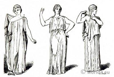 Specimen artistic Greek dress. Ancient Greek costume.