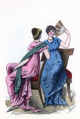 Directoire costumes. Costumes imités de l'antique.