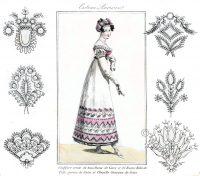Embroidery designs. Empire, Regency