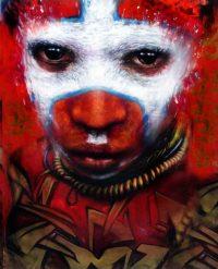 African, Makeup, Make up, Graffiti, London,