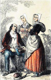 Pluvigner, Bretagne, robe traditionnelle